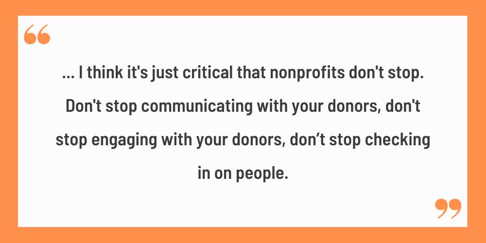 nonprofit donor communication